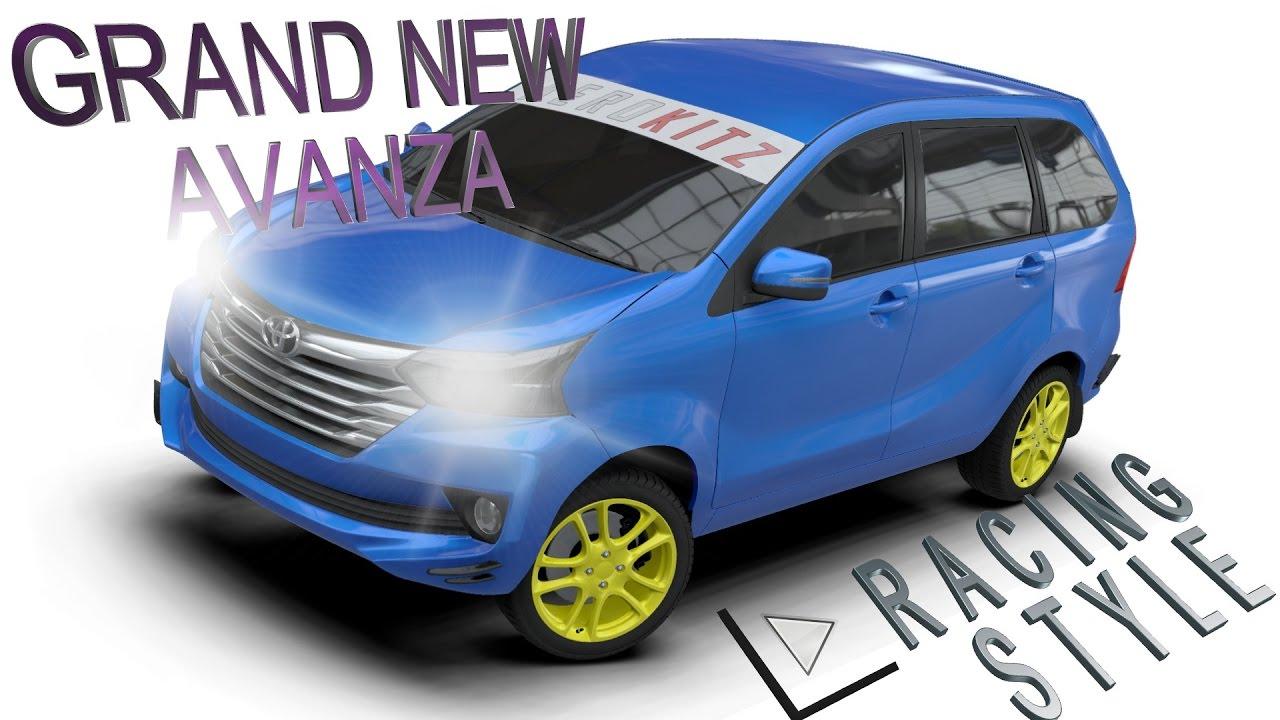 Aerokitz Aksesoris Modifikasi Toyota Grand New Avanza Racing Style