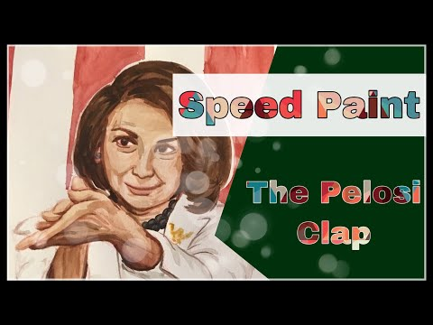 The Pelosi Clap Drawing What's Trending on Twitter Speed Art