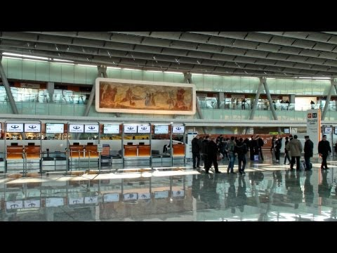 Zvartnots International Airport, New Terminal. Armenia, Yerevan.