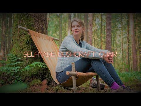 Simple selfmade bushcraft hanging chair — Vanessa Blank