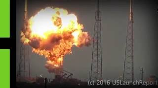 Massive fireball: Moment SpaceX's Falcon 9 rocket explodes