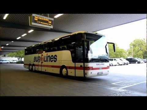 ZOB Berlin Bereitstellung Eurolines Linienbus nach Paris