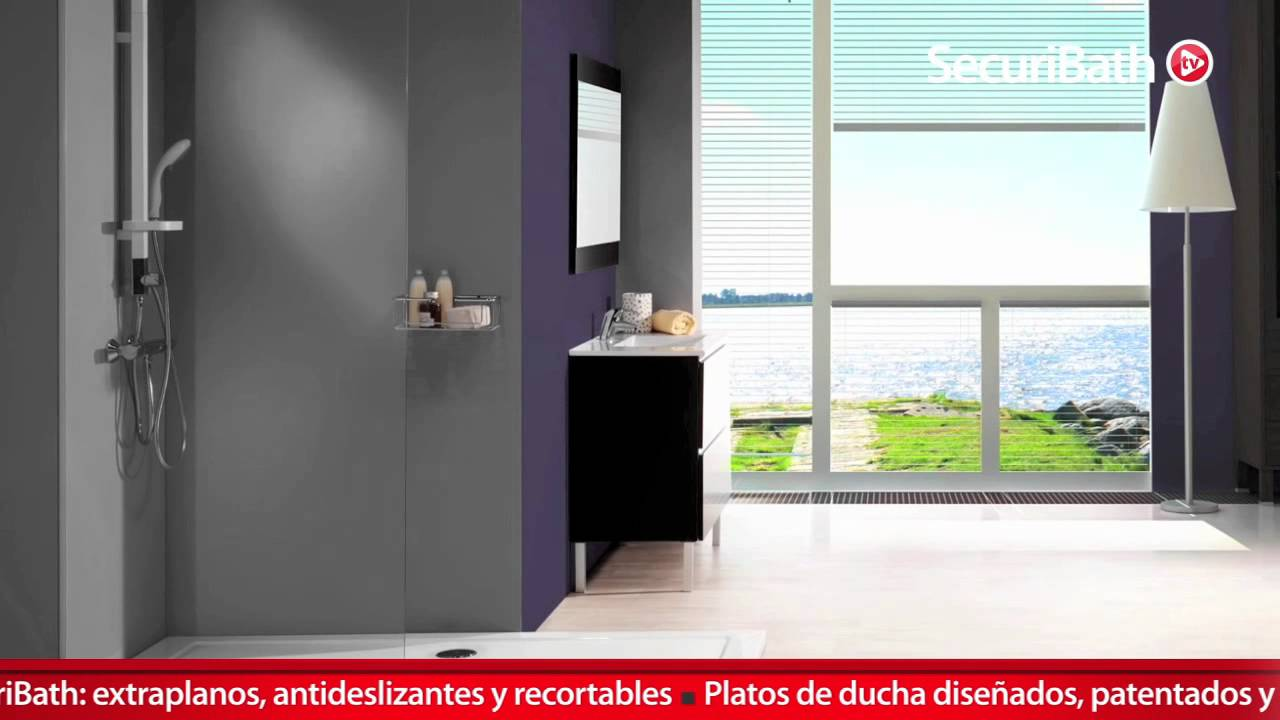 Plato de ducha antideslizante techbath by securibath youtube for Antideslizante ducha