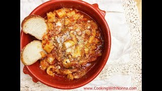 Tripe with Potatoes -  Rossella's Cooking with Nonna
