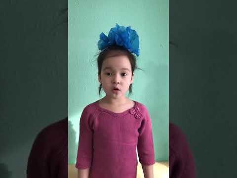Никифорова Альмира 6 лет стихотворение Е.Каргановой «Рядом с мамой»
