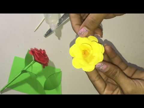 DIY: Paper Rose Flower Beautiful !