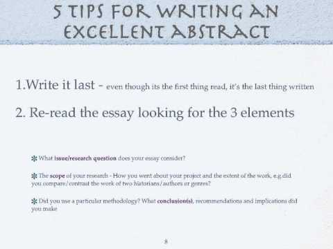 Guidelines to writing a research paper.