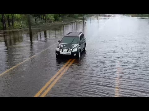Drone Video of the flooding in Port Saint Joe, FL form Tropical Storm Fred