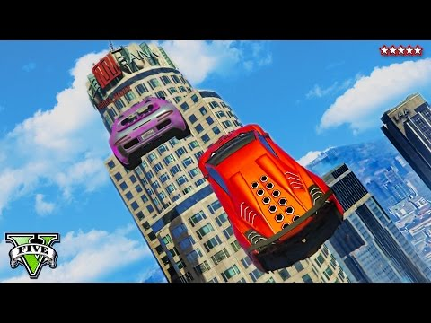 GTA 5 Online Funny Moments | Crazy Epic Race Jumping Over Buildings | GTA V Funny Montage