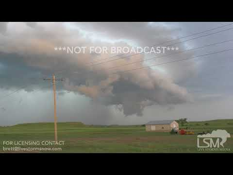 05-31-2018 Richardton, ND - Possible Tornado and Triple Funnels