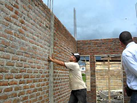 Pared con columna de amarre normal youtube - Como solucionar humedades en paredes ...
