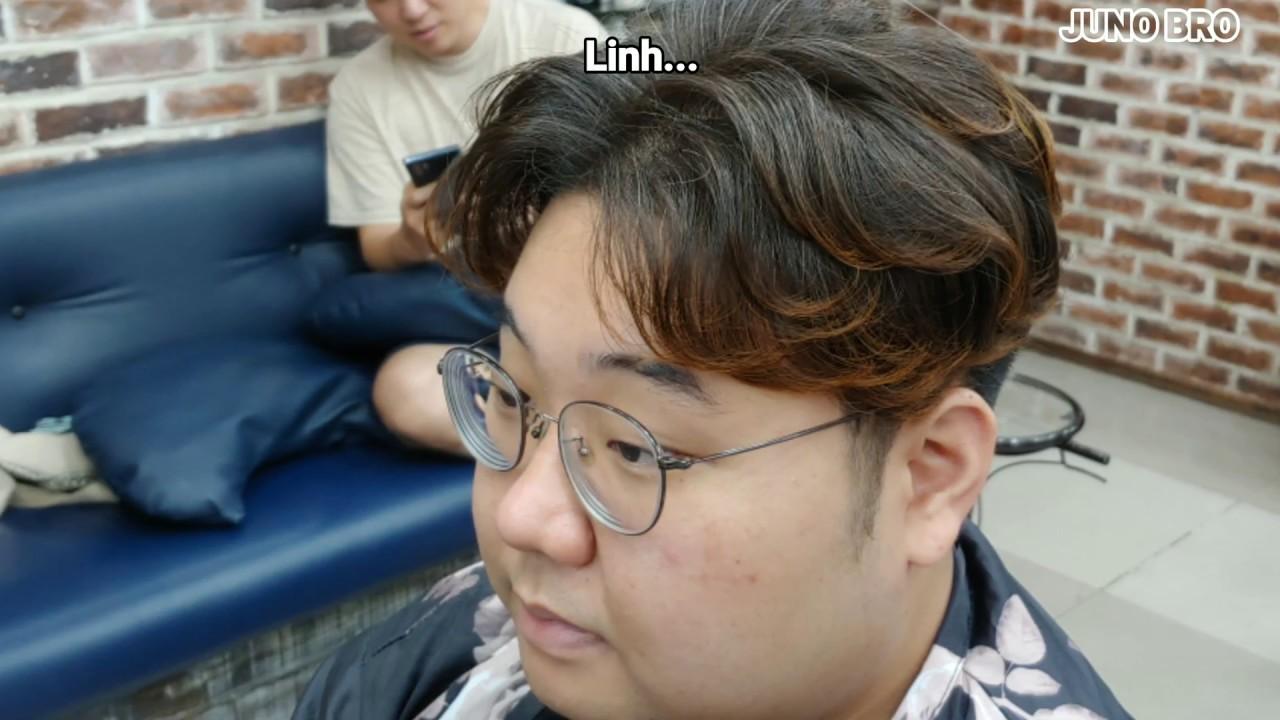 [Full ver] Hướng dẫn cắt va uốn tóc nam chẻ 2 mái  layer cắt toc 가르마 펌 How to style Asian hair | Những kiểu tóc nam dẫn đầu xu hướng