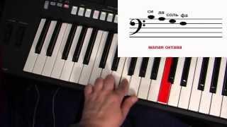 Самоучитель игры на синтезаторе. Урок 1. Нотная грамота - высота звука. Играем по нотам.