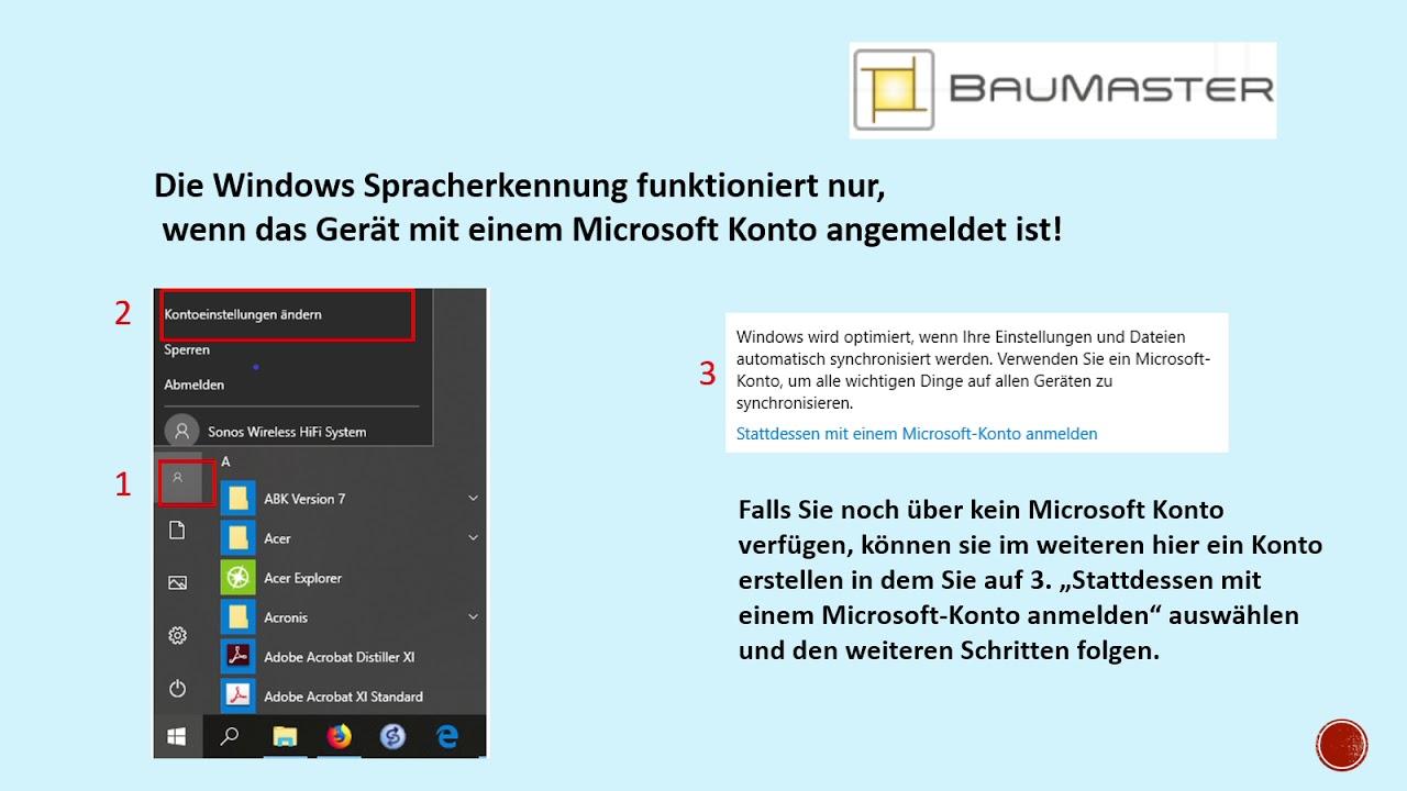 windows spracherkennung