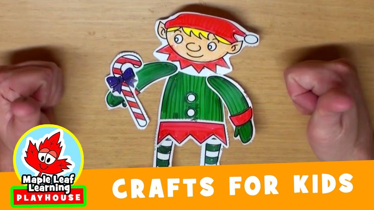 Elf Christmas Craft for Kids   Maple Leaf Learning ...