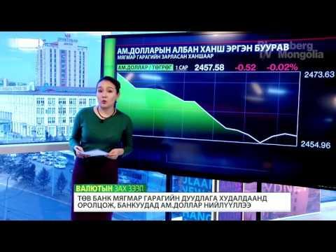 Монголбанк валютын нийлүүлэлт хийсний дараа ам.долларын ханш бага зэрэг буурав