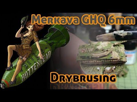 Israeli Merkava Drybrushing 6mm GHQ models