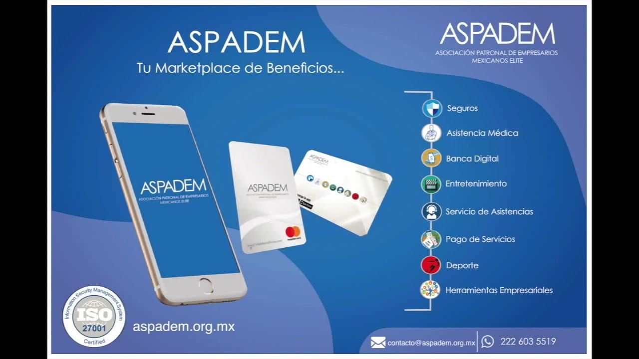 Beneficios de afiliarse a ASPADEM
