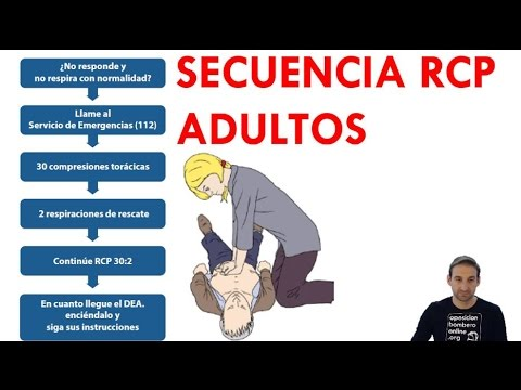como hacer rcp en adultos