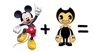 Disney as Bendy And The Ink Machine ( Mickey Mouse as BENDY ) Polymer Clay