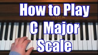 Piano Lessons - C Major Scale (Right & Left Hand)