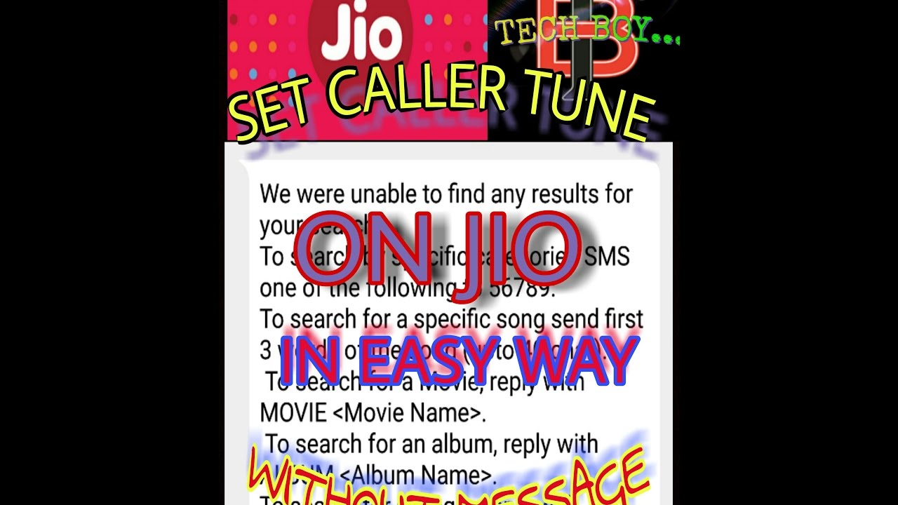 HOW TO SET CALLER TUNE ON JIO WITHOUT SEND ANY MASSEGE (HINDI)