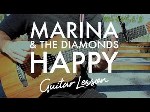 Marina The Diamonds Happy Guitar Lessontutorial Youtube