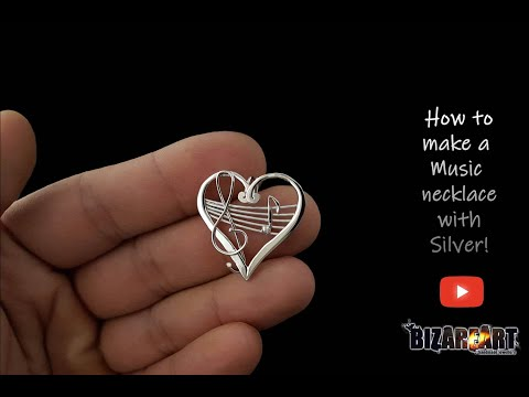 How To Make A Music Note Necklace With Silver All By Hand! Ep 60