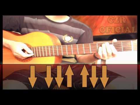 Batida 2, Ritmo simples -POP ROCK- Aprenda Violao sozinho! Aula e tutorial por CEZAR