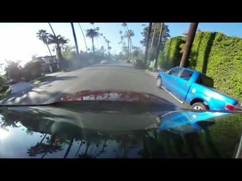 Driving Around Beverly Hills California with 360 Degrees 4k Camera VR 04