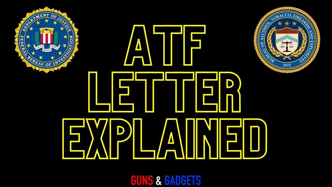EXPLAINED: ATF Letter Regarding Pistol Braces