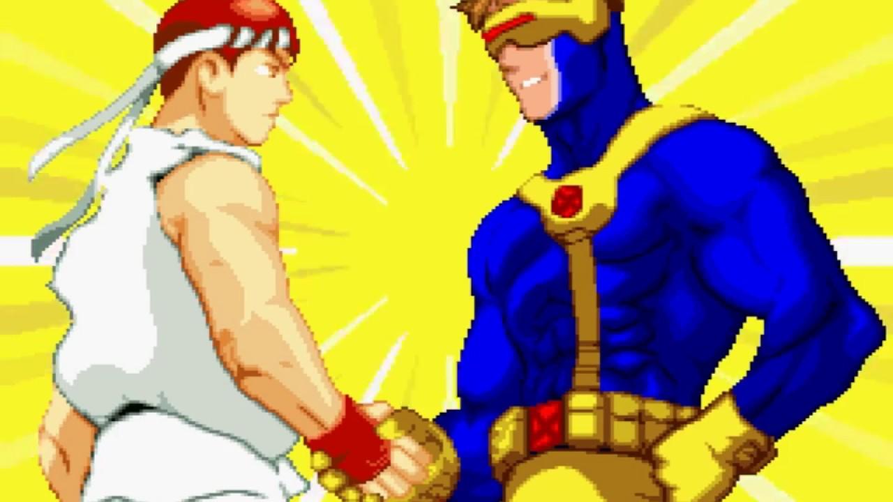 X Men Vs Street Fighter Ps1 Playthrough Nintendocomplete Youtube