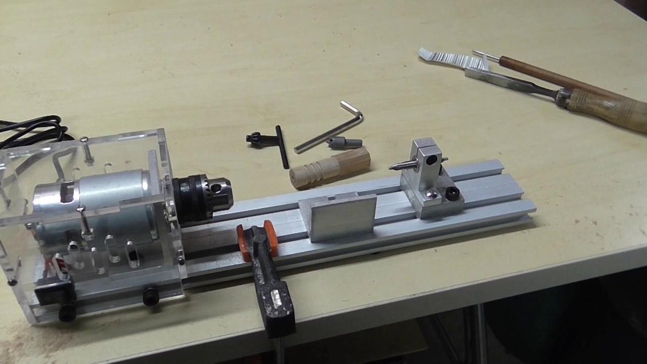 Review Dc 24v Mini Lathe Beads Machine Woodwork Diy Lathe Youtube