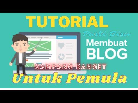 Di Tutorial video saya kali ini, saya akan membagikan dari bagaimana cara membuat Blog untuk pemula..