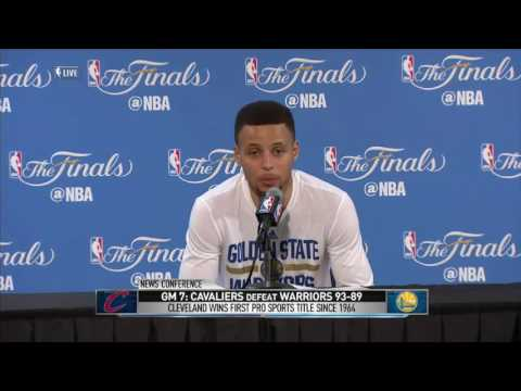 Stephen Curry Postgame Interview #1   June 19 NBA 2016 Finals   Cavaliers vs Warriors Game 7
