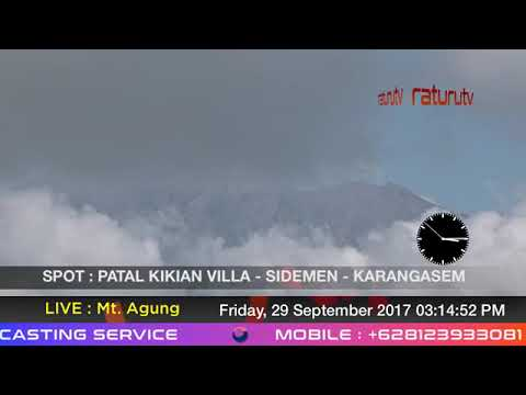 Mount Agung The volcano in Bali live real time ( Gunung Agung Recorded Version ) 29092017 - II