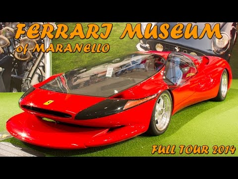 FERRARI MUSEUM OF MARANELLO - Full tour (F40 LM, 458 GT2, 330 P, etc ... ) 2014 HQ