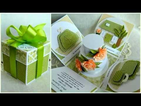 W Mega Kartki ślubne - 3D, pudełko niespodzianka, kartki z torebką i RQ21