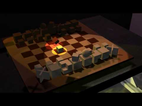 bauhaus chess animation