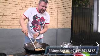 Дмитрий Журавлев мастер класс вок на горелке WOLMEX видео 1
