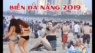 Biển Đà Nẵng Chật Kín Người Trong Những Ngày Nắng Nóng - My Khe Beach - Da Nang, Vietnam
