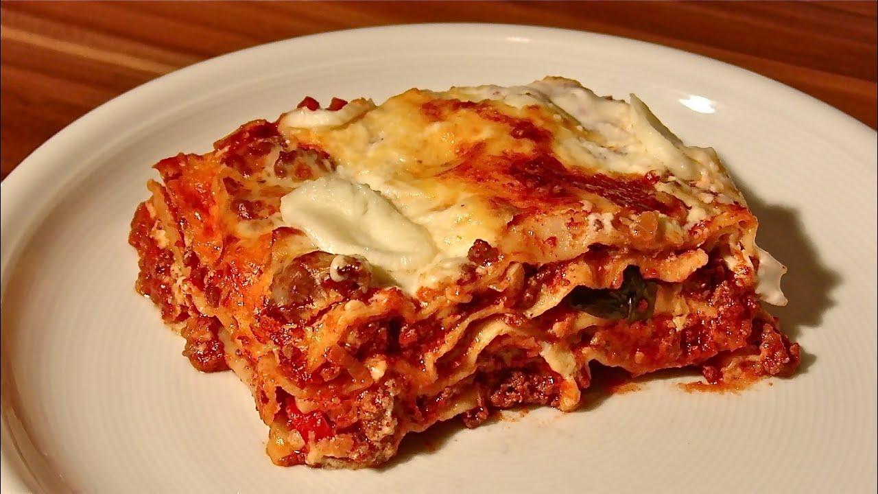 lasagne bolognese lasagna bolognese selber machen lasagne lasagna bolognese youtube. Black Bedroom Furniture Sets. Home Design Ideas