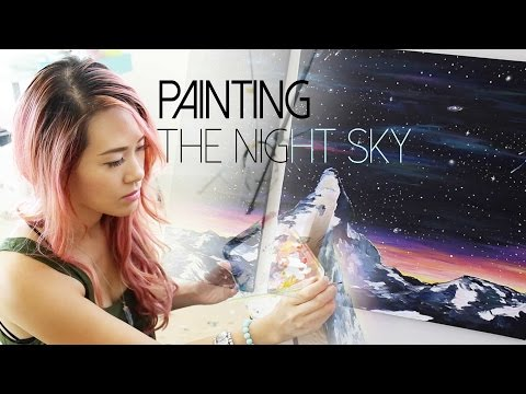 Painting the Night Sky | HOW TO PAINT | ANN LE