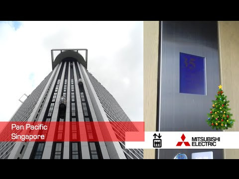Amazing Mitsubishi Exterior Observation Elevators at Pan Pacific Singapore
