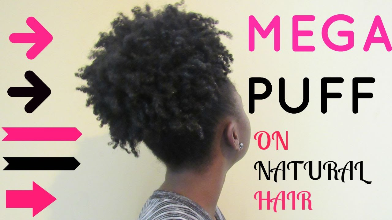 How To Afro Puff High Ponytail On Natural Hair Youtube