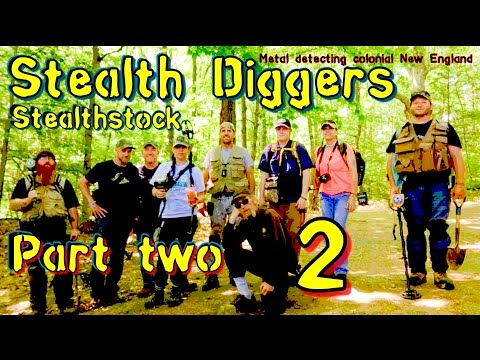 #151 Stealthstock Part 2 - metal detecting rare finds New England cellar holes coins military button