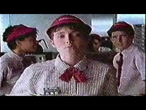 1989 mcdonalds menu song commercial youtube