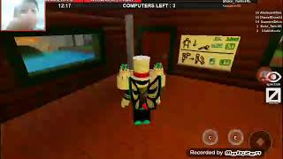 I play roblox together a cave friend