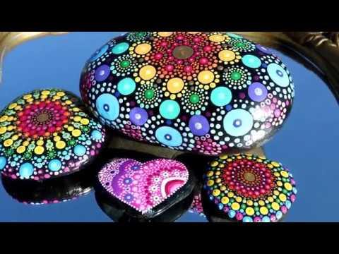 PAINTED ROCKS - TOOLS I USE (Mandala)
