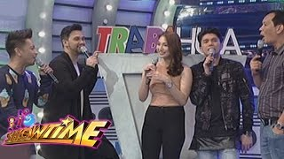 Jhong Hilario stuttered because he was distracted by Aiko Climaco's...